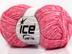 Lot of 8 Skeins Ice Yarns DENIM (80% Cotton) Hand Knitting Yarn Pink