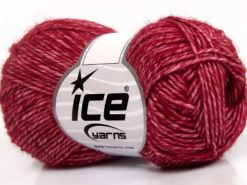 Lot of 8 Skeins Ice Yarns DENIM (80% Cotton) Hand Knitting Yarn Dark Burgundy