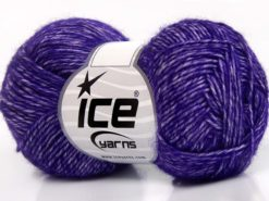 Lot of 8 Skeins Ice Yarns DENIM (80% Cotton) Hand Knitting Yarn Dark Purple