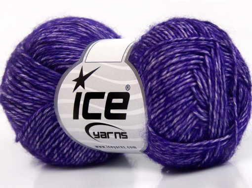 Lot of 8 Skeins Ice Yarns DENIM (80% Cotton) Hand Knitting Yarn Dark Purple