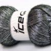 Lot of 4 x 100gr Skeins Ice Yarns UNIVERSE (19% Wool) Yarn Black Silver