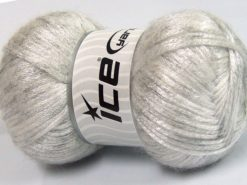 Lot of 4 x 100gr Skeins Ice Yarns UNIVERSE (19% Wool) Yarn White Silver