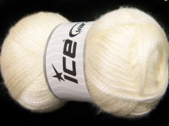 Lot of 4 x 100gr Skeins Ice Yarns UNIVERSE (19% Wool) Hand Knitting Yarn Cream
