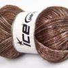 Lot of 4 x 100gr Skeins Ice Yarns UNIVERSE (19% Wool) Hand Knitting Yarn Brown