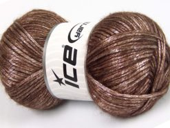 Lot of 4 x 100gr Skeins Ice Yarns UNIVERSE (19% Wool) Hand Knitting Yarn Brown