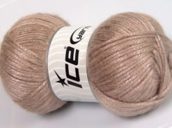 Lot of 4 x 100gr Skeins Ice Yarns UNIVERSE (19% Wool) Yarn Light Camel