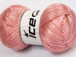 Lot of 4 x 100gr Skeins Ice Yarns UNIVERSE (19% Wool) Yarn Pink Light Salmon