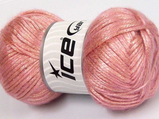 Lot of 4 x 100gr Skeins Ice Yarns UNIVERSE (19% Wool) Yarn Pink Light Salmon