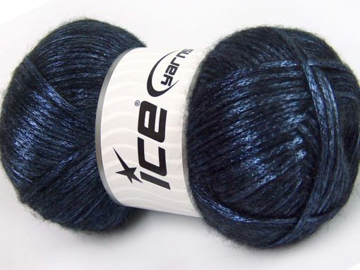 Lot of 4 x 100gr Skeins Ice Yarns UNIVERSE (19% Wool) Yarn Dark Blue Black