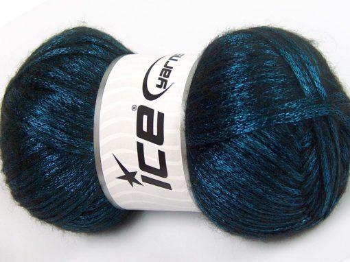 Lot of 4 x 100gr Skeins Ice Yarns UNIVERSE (19% Wool) Yarn Turquoise Black