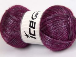 Lot of 4 x 100gr Skeins Ice Yarns UNIVERSE (19% Wool) Yarn Fuchsia Lilac