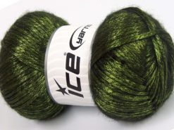 Lot of 4 x 100gr Skeins Ice Yarns UNIVERSE (19% Wool) Yarn Green Black