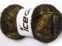 Lot of 4 x 100gr Skeins Ice Yarns UNIVERSE (19% Wool) Yarn Olive Green Black