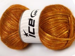 Lot of 4 x 100gr Skeins Ice Yarns UNIVERSE (19% Wool) Yarn Gold Shades