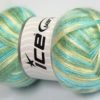 Lot of 4 x 100gr Skeins Ice Yarns UNIVERSE (19% Wool) Yarn Turquoise Shades Light Yellow