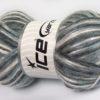 Lot of 4 x 100gr Skeins Ice Yarns UNIVERSE (19% Wool) Yarn Grey Shades White Black