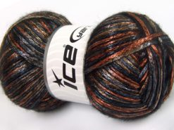 Lot of 4 x 100gr Skeins Ice Yarns UNIVERSE (19% Wool) Yarn Black Grey Orange Bronze