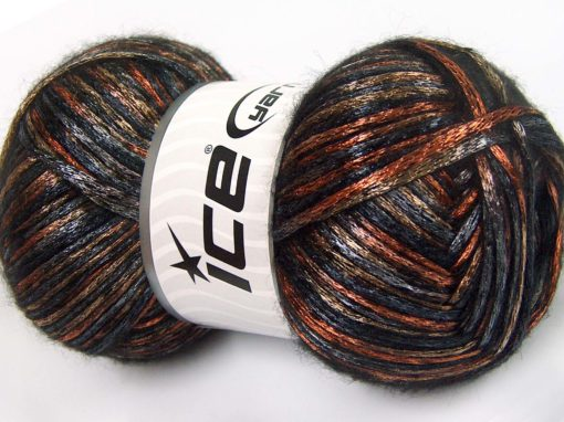 Lot of 4 x 100gr Skeins Ice Yarns UNIVERSE (19% Wool) Yarn Black Grey Orange Bronze