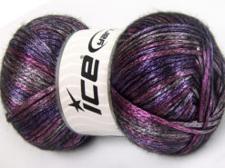 Lot of 4 x 100gr Skeins Ice Yarns UNIVERSE (19% Wool) Yarn Purple Black Pink