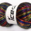 Lot of 4 x 100gr Skeins Ice Yarns UNIVERSE (19% Wool) Yarn Rainbow