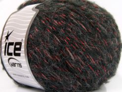 Lot of 4 x 100gr Skeins Ice Yarns ALPACA SHINE (19% Alpaca) Yarn Black Red