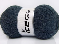 Lot of 4 x 100gr Skeins Ice Yarns ZERDA ALPACA (30% Alpaca 70% Dralon) Yarn Jeans Blue