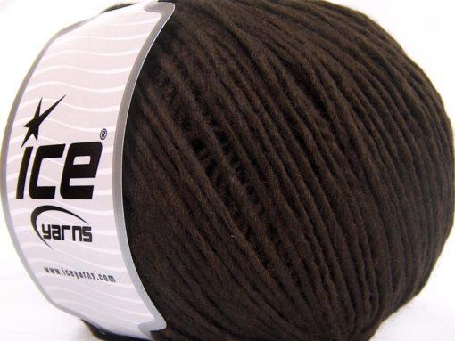 Lot of 4 x 100gr Skeins Ice Yarns SALE WINTER (50% Wool) Yarn Coffee Brown