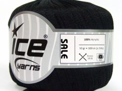Lot of 6 Skeins Ice Yarns SALE SUMMER Hand Knitting Yarn Black