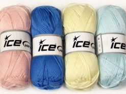 Lot of 4 x 100gr Skeins Ice Yarns BABY SOFTY Hand Knitting Yarn Mixed Lot
