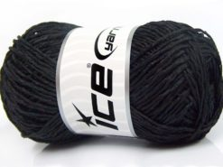 Lot of 4 x 100gr Skeins Ice Yarns SALE SUMMER (100% Viscose) Yarn Black