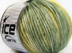 Lot of 6 Skeins Ice Yarns ROMA (26% Wool 74% Modal) Yarn Khaki Yellow