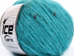 Lot of 8 Skeins Ice Yarns SOFTAIR TWEED (4% Viscose) Yarn Turquoise