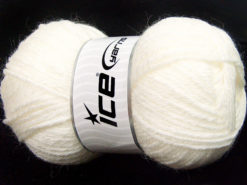 Lot of 4 x 100gr Skeins Ice Yarns ZERDA ALPACA (30% Alpaca 70% Dralon) Yarn White
