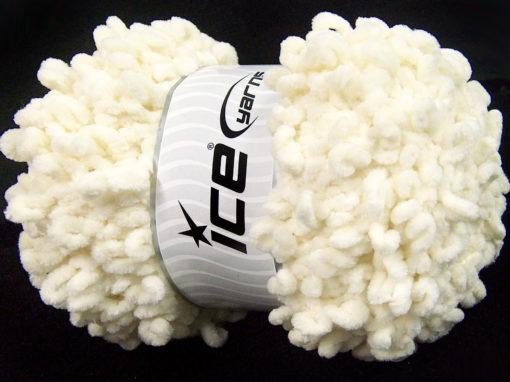 Lot of 4 x 100gr Skeins Ice Yarns CHENILLE LOOP (100% MicroFiber) Yarn Light Cream