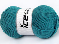 Lot of 4 x 100gr Skeins Ice Yarns CHAIN PAILLETTE (2% Paillette) Yarn Turquoise