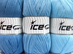Lot of 3 x 100gr Skeins Ice Yarns BABY OMBRE Yarn Baby Blue Lilac Shades