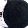 Lot of 6 Skeins Ice Yarns MERINO EXTRAFINE COTTON (30% Extrafine Merino Wool 30% Cotton) Yarn Black