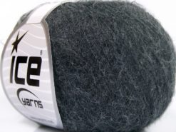 Lot of 10 Skeins Ice Yarns BABY ALPACA SUPERFINE (40% Baby Alpaca 10% Merino Wool) Yarn Dark Grey