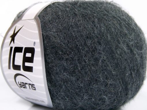 Lot of 10 Skeins Ice Yarns BABY ALPACA SUPERFINE (40% Baby Alpaca 10% Merino Wool) Yarn Dark Grey