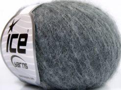 Lot of 10 Skeins Ice Yarns BABY ALPACA SUPERFINE (40% Baby Alpaca 10% Merino Wool) Yarn Grey