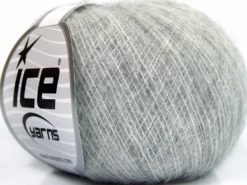 Lot of 10 Skeins Ice Yarns BABY ALPACA SUPERFINE (40% Baby Alpaca 10% Merino Wool) Yarn Light Grey