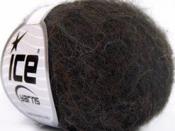 Lot of 10 Skeins Ice Yarns ALPACA SUPERFINE WOOL COMFORT (28% Alpaca Superfine 31% Wool) Yarn Dark Brown