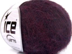 Lot of 10 Skeins Ice Yarns ALPACA SUPERFINE WOOL COMFORT (28% Alpaca Superfine 31% Wool) Yarn Dark Purple