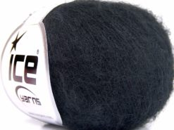 Lot of 10 Skeins Ice Yarns KID MOHAIR ALPACA SUPERFINE (40% Kid Mohair 40% Alpaca Superfine) Yarn Black
