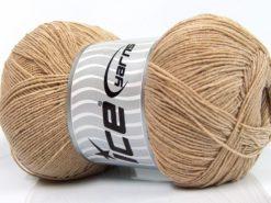 Lot of 4 x 100gr Skeins Ice Yarns LORENA SUPERFINE (55% Cotton) Yarn Beige