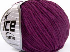 Lot of 8 Skeins Ice Yarns ALARA (50% Cotton) Hand Knitting Yarn Purple