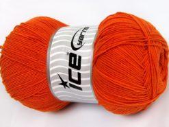 Lot of 4 x 100gr Skeins Ice Yarns LORENA SUPERFINE (55% Cotton) Yarn Orange