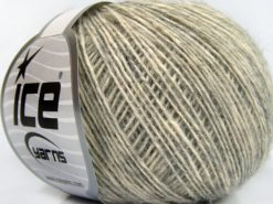 Lot of 8 Skeins Ice Yarns BABY ALPACA MERINO COTTON (22% Baby Alpaca 22% Extrafine Merino Wool) Yarn Light Grey