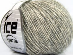 Lot of 8 Skeins Ice Yarns BABY ALPACA MERINO COTTON (22% Baby Alpaca 22% Extrafine Merino Wool) Yarn Dark Grey