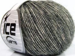 Lot of 8 Skeins Ice Yarns BABY ALPACA MERINO COTTON (22% Baby Alpaca 22% Extrafine Merino Wool) Yarn Anthracite Black